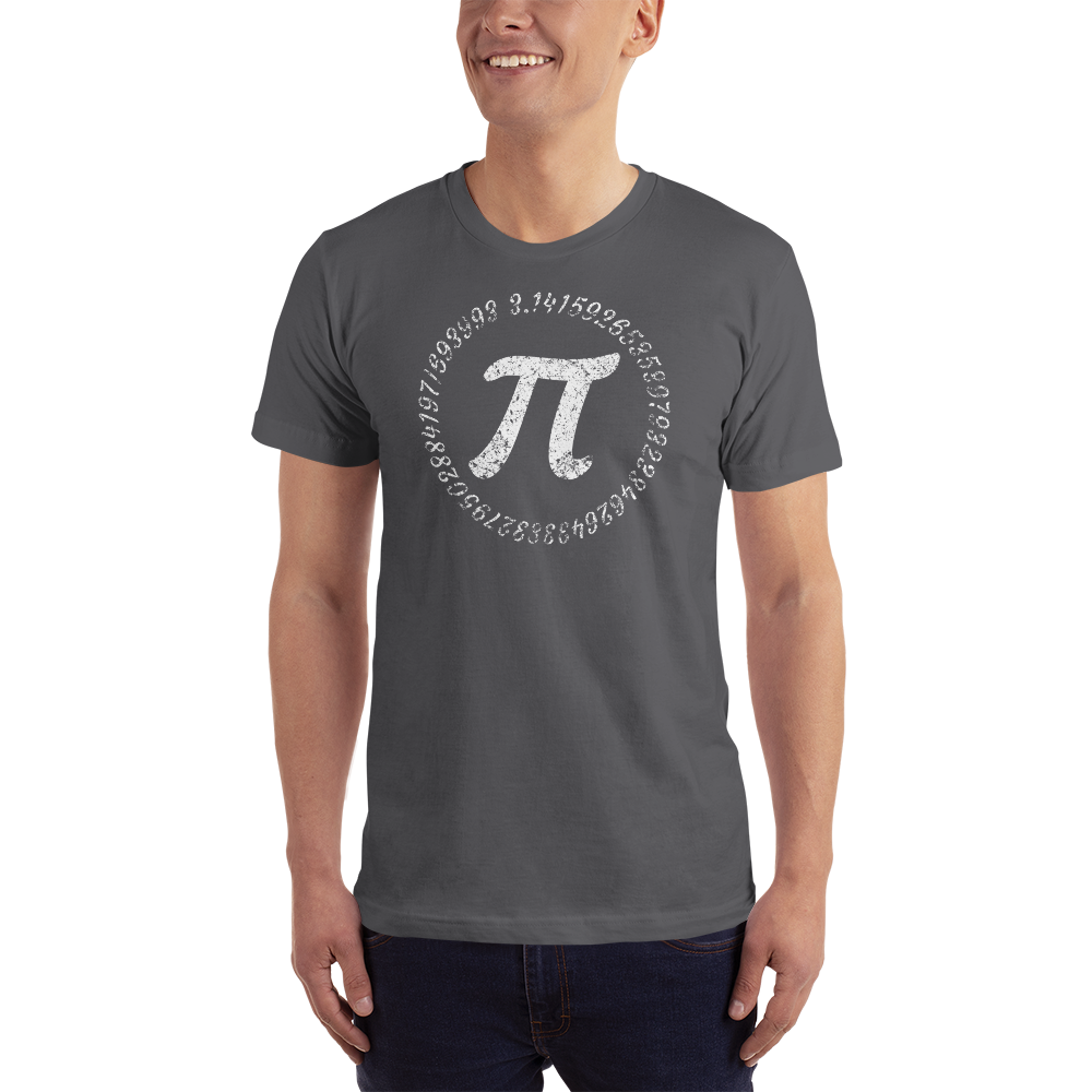Pi Symbol with circle of numbers on a T-Shirt - Logikal Threads