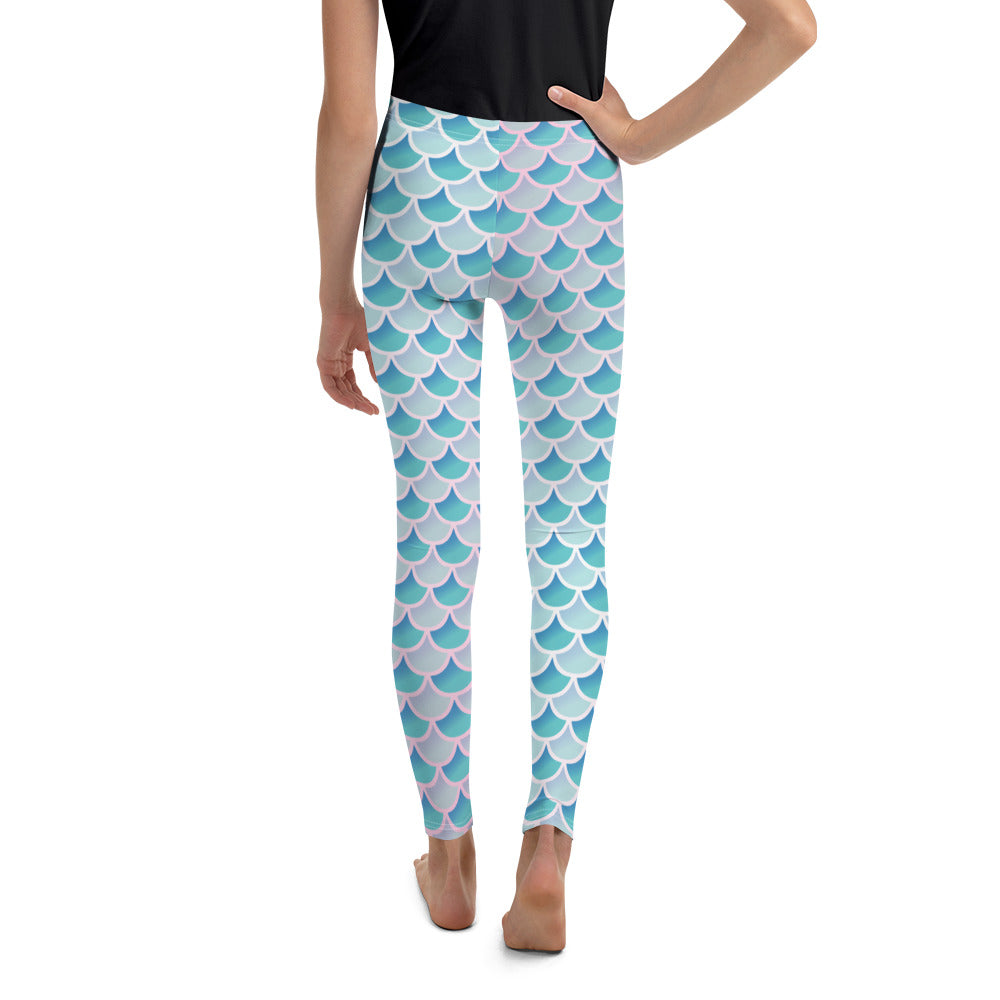 Mermaid Scale Youth Leggings - Logikal Threads