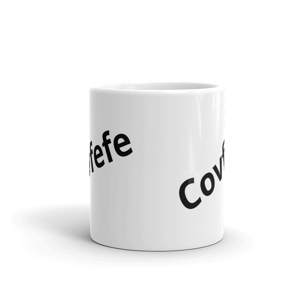 Enjoy a fresh cup of covfefe with our signature coffee cup - Logikal Threads