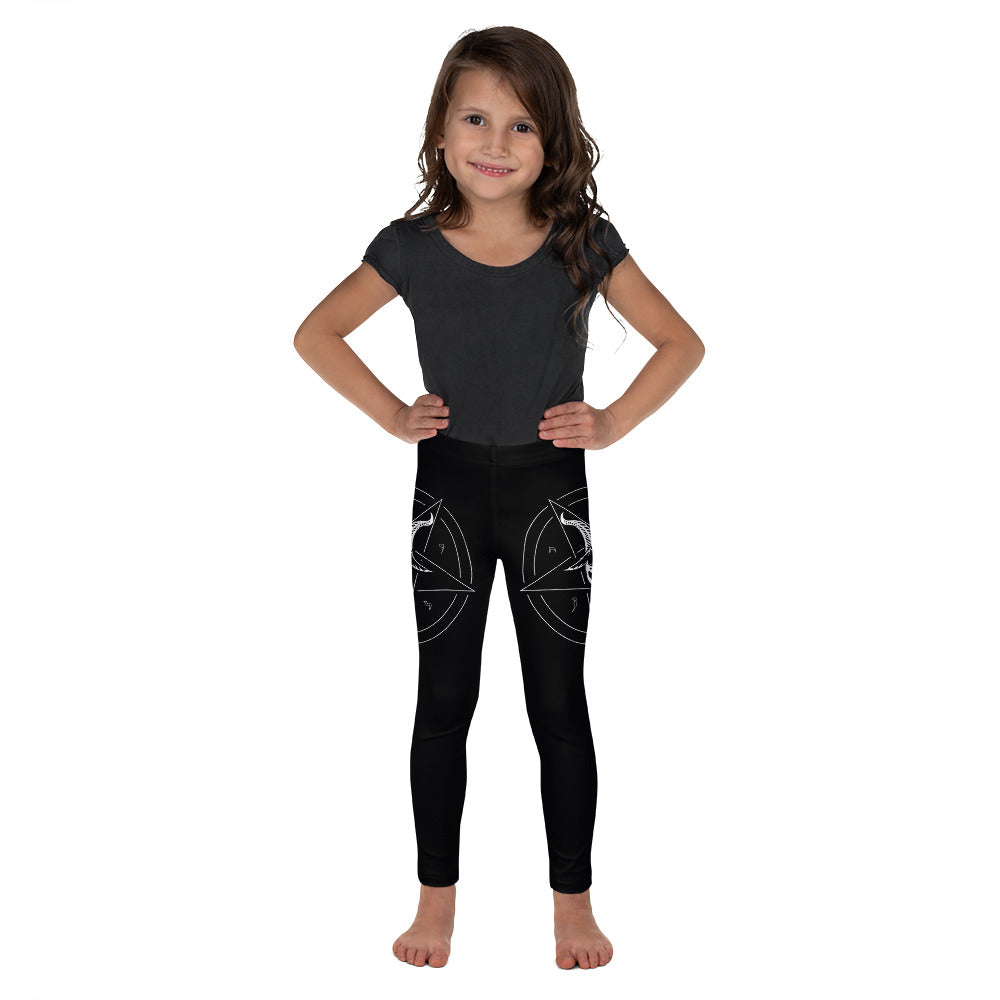 Baphomet Satanic Pentagram Kid's Leggings - Logikal Threads