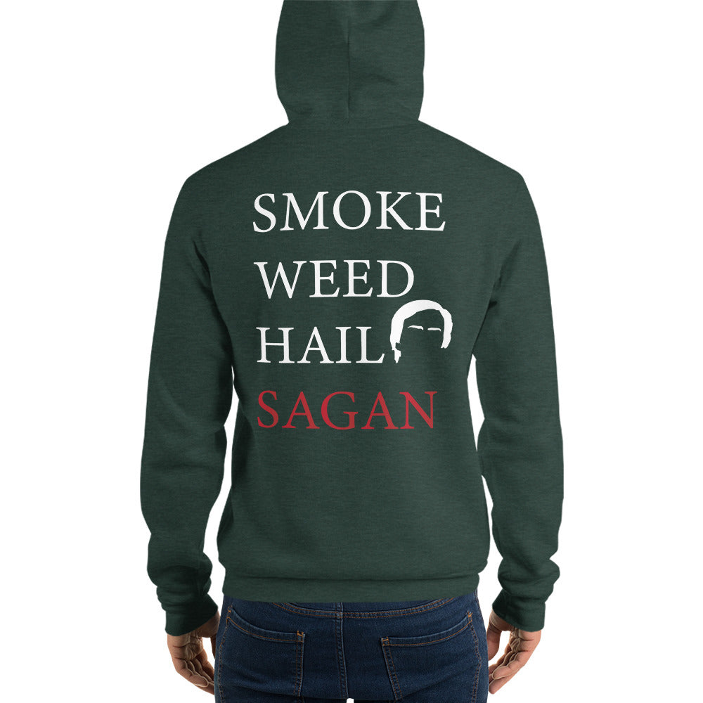 Smoke Weed Hail Sagan Hoodie - Logikal Threads