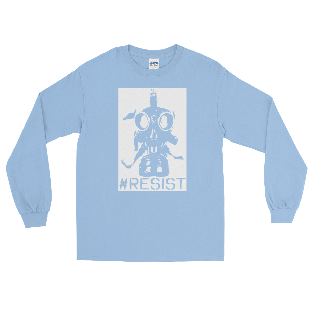 Resist Gas Mask Long Sleeve Shirt - Logikal Threads
