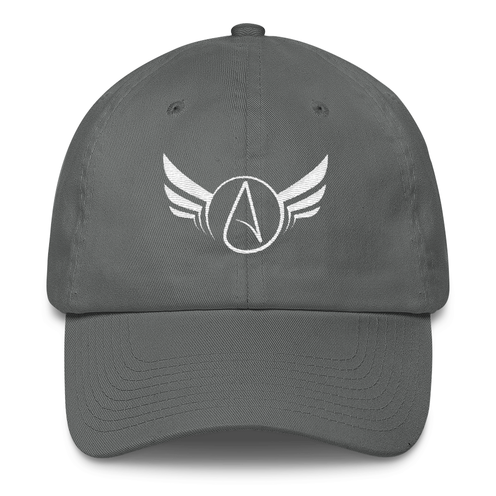 Atheist Symbol Wings Baseball Hat - Logikal Threads