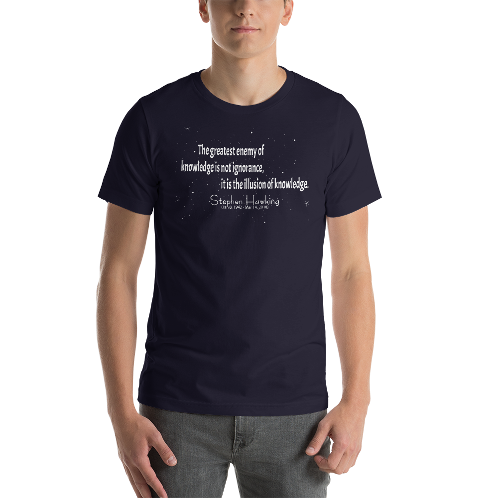 Stephen Hawking Commemoration Shirt - Logikal Threads