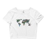 Electric Space Map Crop Top T-shirt - Logikal Threads