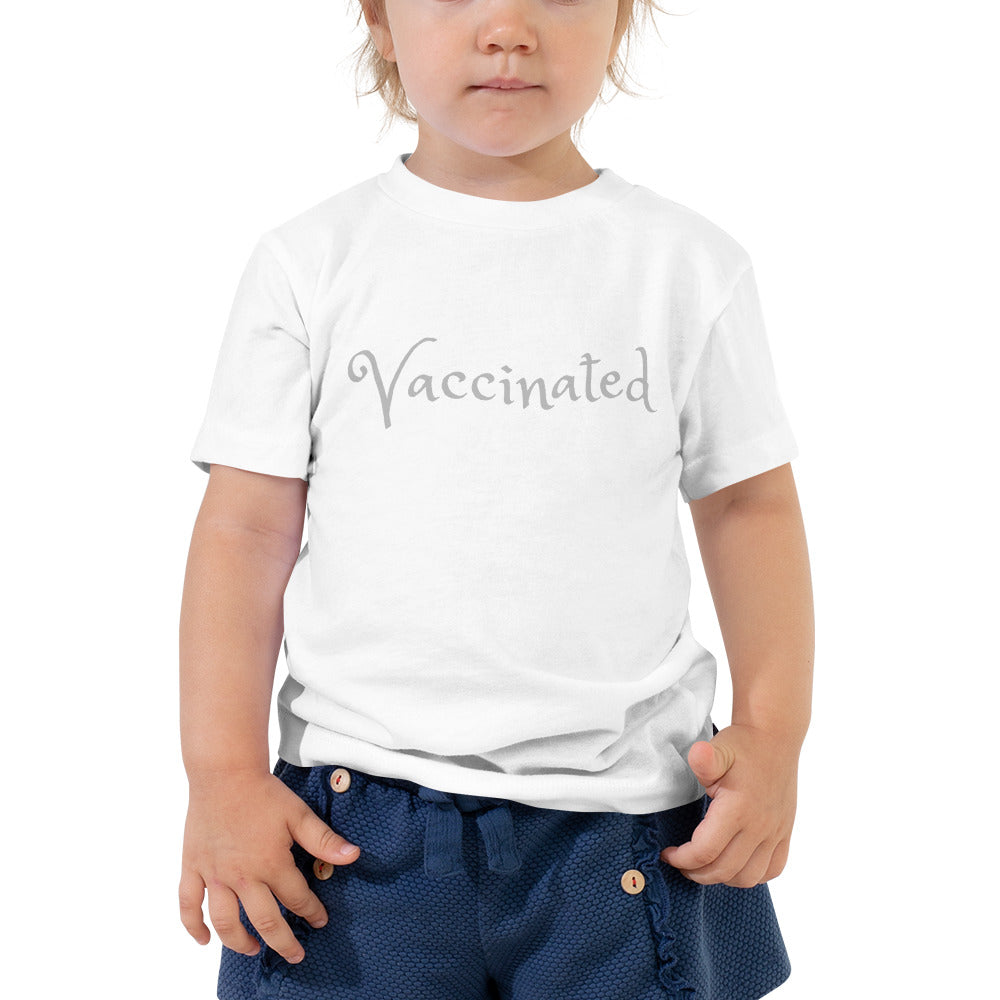 Vaccinated Toddler Short Sleeve Tee - Logikal Threads