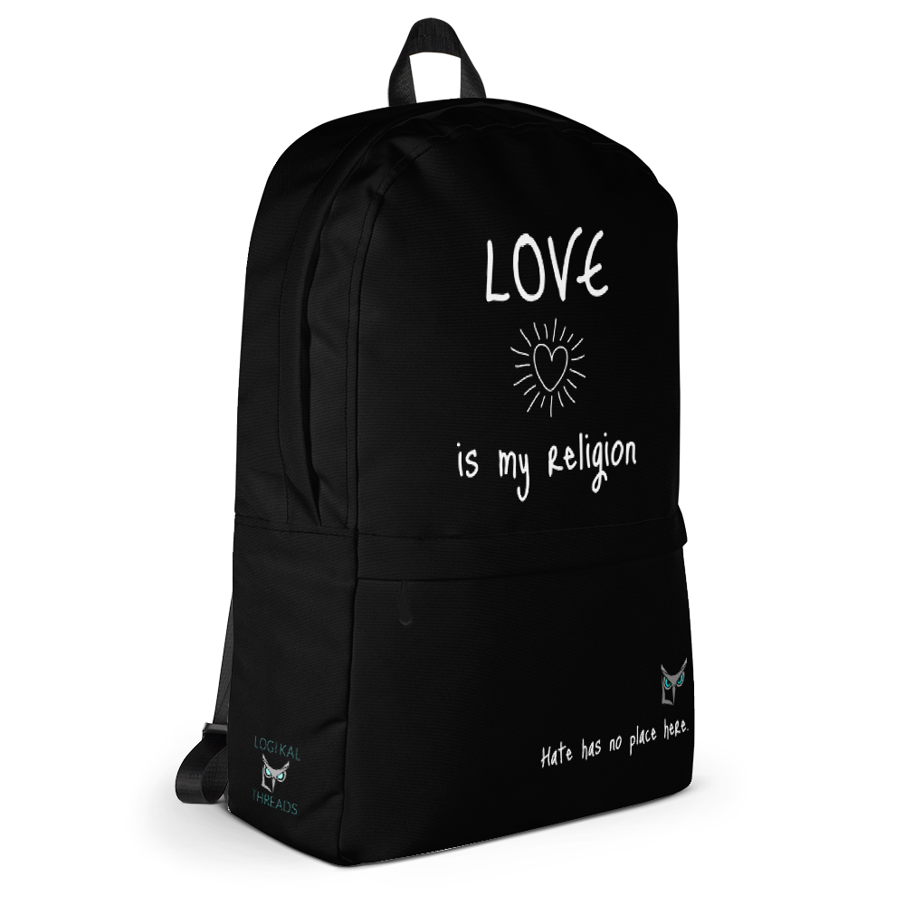 Love is My Religion Backpack - Logikal Threads