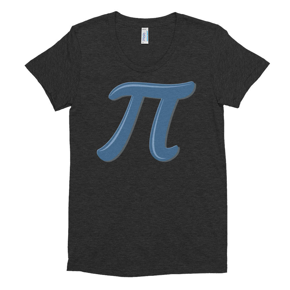 Pi Day Symbol on a Women's Crew Neck T-shirt - Logikal Threads