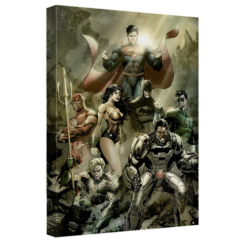 AFTERMATH Canvas Wall Art With Back Board - Justice League