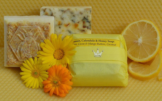Lemon, Calendula & Honey Soap