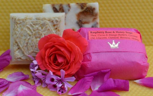 Raspberry, Rose & Honey Soap