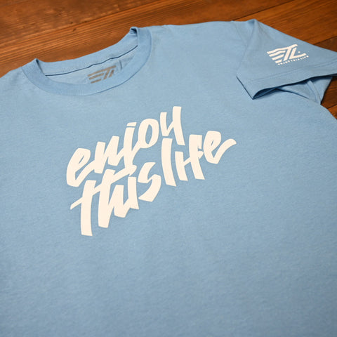 ETL Script Logo Youth Tee - Carolina Blue