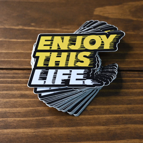 Drip Fast - EnjoyThisLife Logo Sticker - Black N' Yellow
