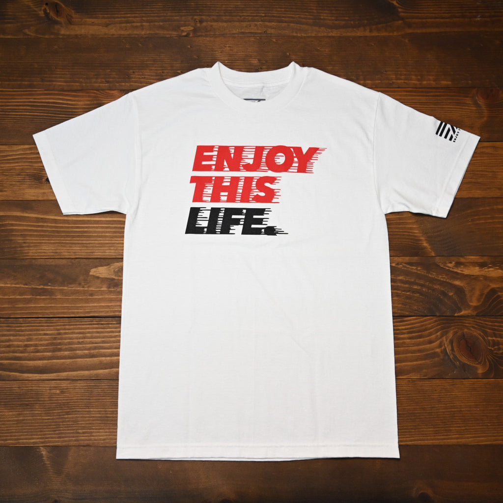 Drip Fast - EnjoyThisLife Logo Tee - White