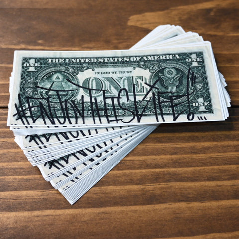 "#EnjoyThisLife!"" Dollar Sticker"