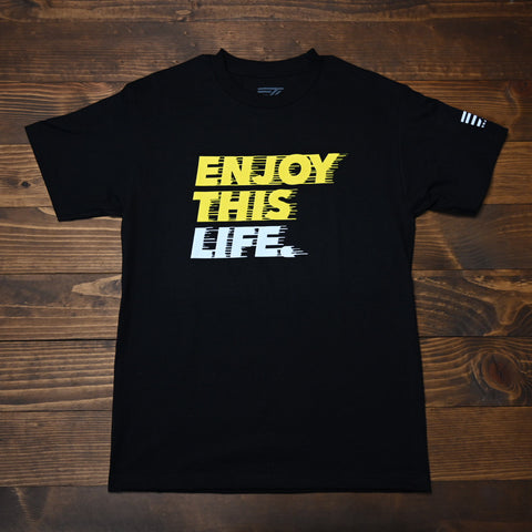 Drip Fast - EnjoyThisLife Logo Tee - Black