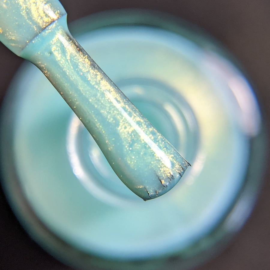 Seafoam - Green Fluid Art w/ Gold Shimmer