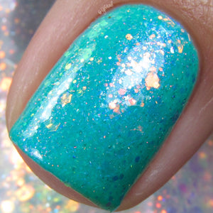 Blue Hawaiian - Neon Teal w/ White Microflake & Blue to Violet Shifting Aurora