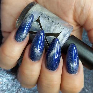 Aer (air) - magnetic blue/indigo UP sister w/ holo microflakies
