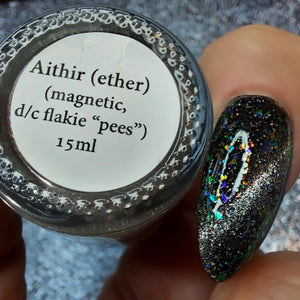 Aithir (ether) - magnetic, OGUP + Sister FLAKIES w/ holo microflakies