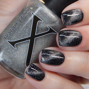 Scrying Mirror - Silver Magnetic Topper w/ Holo Microflakies