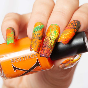 Up Comes the Spider - Orange Fluid Art Polish
