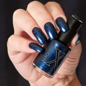 Witching Hour - Blackened Navy Jelly w/ Blue Shimmer & Holo