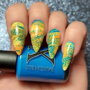 Cool Breeze - LE Fluid Art Polish