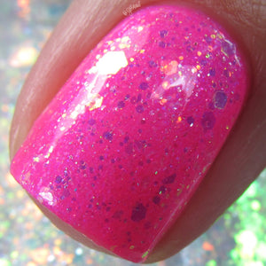 Tiger's Blood - Neon Pink w/ Microflake & Purple Shimmer