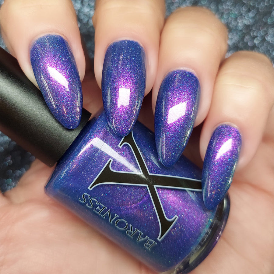 Empress of Balance - Blue Jelly w/ Blue Microflakies & Holo