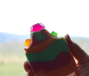 Rainbow Sherbet Ring Pop - Handmade Cold Process Soap