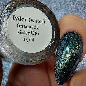 LAST BATCH Hydro (water) - magnetic turquoise/blue UP sister w/ holo microflakies