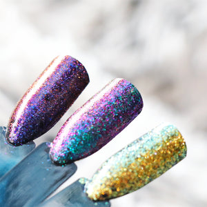 GalaXy Glitters - Iridescent and Multichrome Glitter for Nail Art