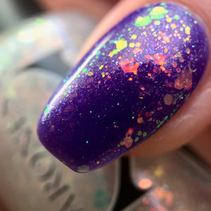 Snowcapped - Topper w/ Iridescent Super Shifty Glitter, Holo, Aurora & White Microflake