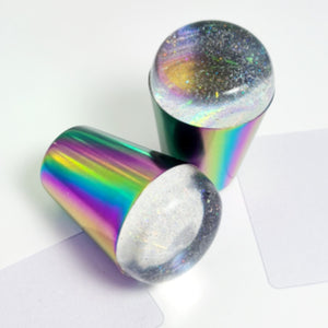 Rainbow Titanium Stamper with Holographic Jelly Head