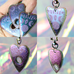 Multichrome Ouija Cat & Planchette Swivel Snap Hooks