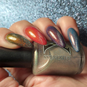 Pyr (fire) - magnetic OGUP topper w/ holo microflakies