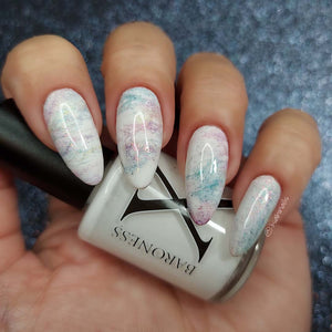 White Lace - Basic White Fluid Art Polish
