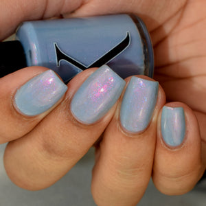 Amortentia - Dusty Blue w/ Pink Shifting Shimmer & Blue Iridescent Flakies