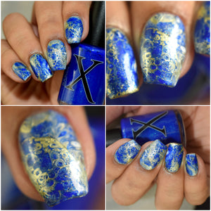Novo Mundo - Cobalt Blue Fluid Art Polish
