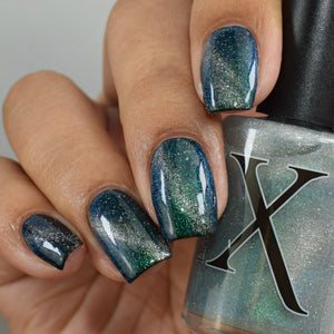 Hydro (water) - magnetic turquoise/blue UP sister w/ holo microflakies