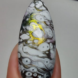 Preorder - Crystal Ball (Fluid Art) - Gold/Green/Blue Iridescent Polish