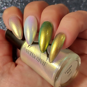 Preorder - Crystal Ball - Gold/Green/Blue Iridescent Polish