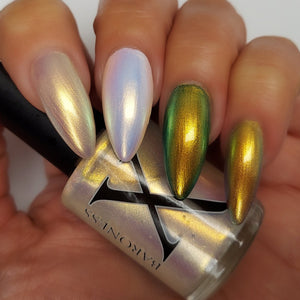 Crystal Ball - Gold/Green/Blue Iridescent Polish