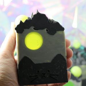 Black Cat & Full Moon Handmade Soap - Sweater Weather