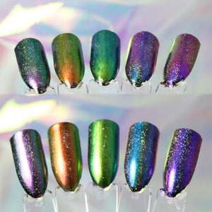 Constellation GalaXy Glints - Iridescent Holographic Nail Burnishing Powders