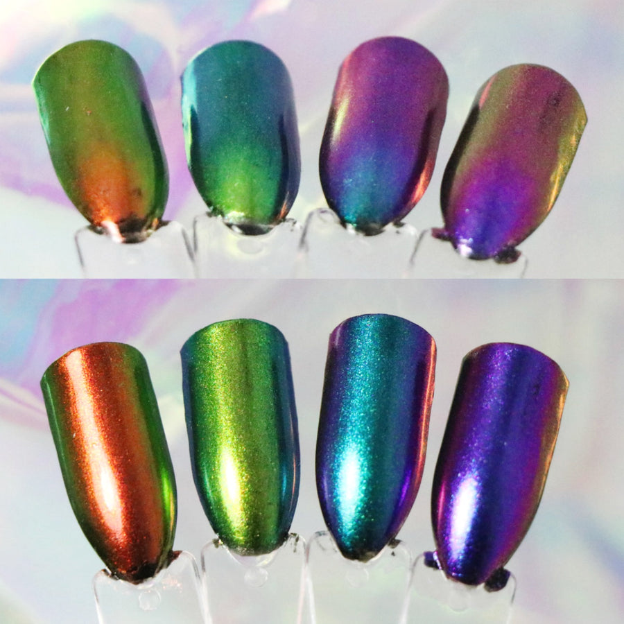 Stargazer GalaXy Glints - Iridescent Nail Burnishing Powders