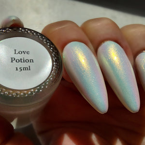 Love Potion - Orange/Gold/Green Iridescent Polish