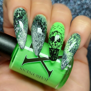 Lucky - Neon Green Fluid Art Polish