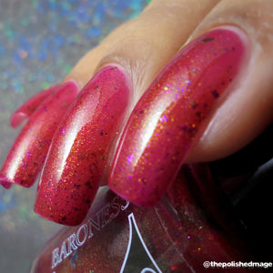 Molino - Berry Red Jelly with Rainbow Flakies and Gold to Blue Pigment